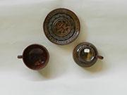 Servizio da tè (teiera, lattiera, zuccheriera e quattro tazze con piattino)