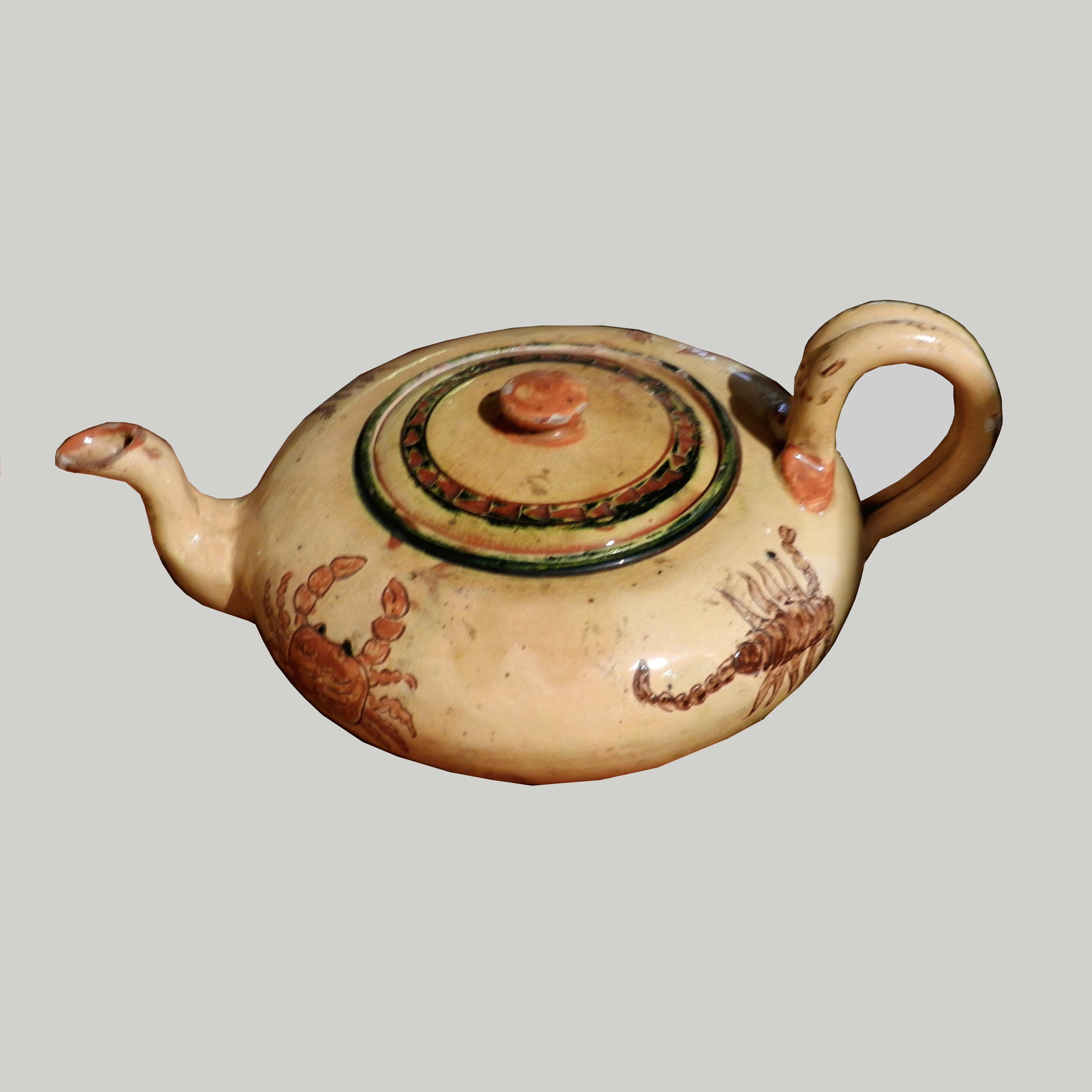Servizio da tè (teiera, zuccheriera, lattiera e quattro tazze con piattino)