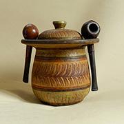 Vaso piccolo con coperchio (tabacchiera)